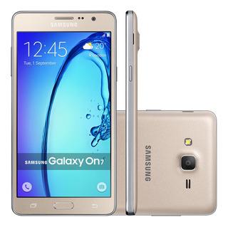 Samsung Galaxy On7 G600f 8gb Dual 4g 13mp 5.5 Gold Vitrine 1