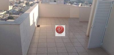 Cobertura Com 2 Dormitórios À Venda, 130 M² Por R$ 457.000 - Vila Guiomar - Santo André/sp - Co0627