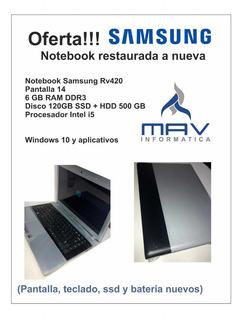 Notebook I5 Samsung Rv 420 Ssd + Hdd 6gb Rápida! Como Nueva