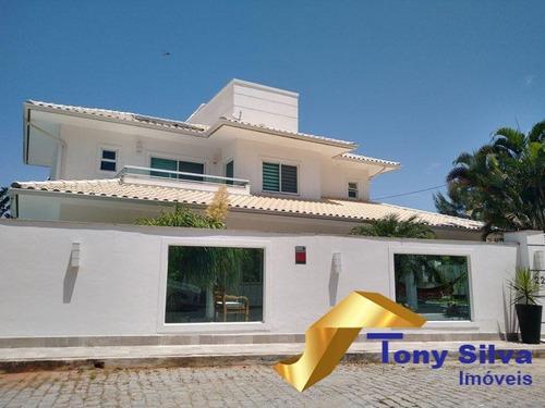 Belíssima Casa De Alto Padrão Em Condomínio Com Canal Navegável Cabo Frio - 1153