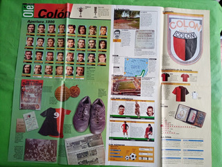Lamina Poster Coleccionable Diario Ole Colon Santa Fe 1996