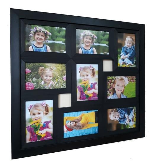 Painel De 9 Fotos 10x15 Quadro C/ Vidro Promoção