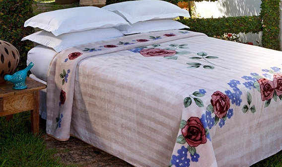 Cobertor Jolitex Super King Raschel 240x260m Várias Estampas