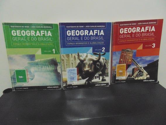Coleção Geografia Geral E Do Brasil 3 Volumes