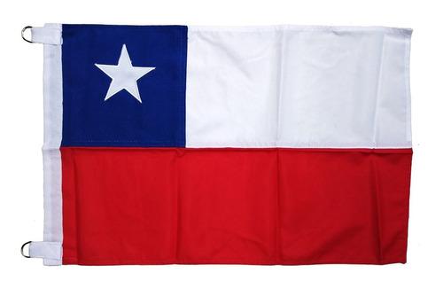 Imagen 1 de 4 de Bandera Chilena En Tela Trevira 40 X 60 Cm