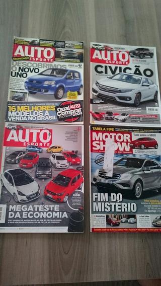 Lote 4 Revista Auto Esporte + Motor Show 528 606 612 355
