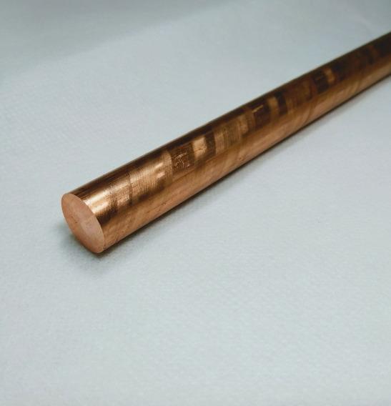Barra Cobre Puro 3/4 Pol (19,05mm) X 20cm C/ 2 Peças