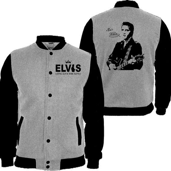 Casaco Moletom College Moleton Rei Do Rock Elvis Presley Md2