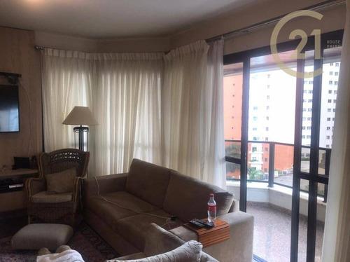 Apartamento Com 3 Suítes Para Alugar, 196 M² Por R$ 5.000/mês - Perdizes - São Paulo/sp - Ap23049