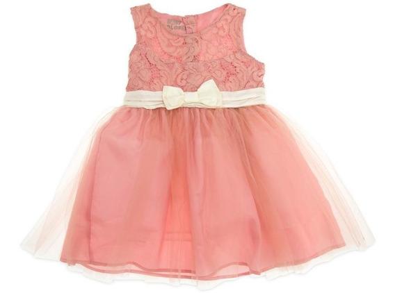Vestido Rosa Marca Baby Colors Para Bebé Niña Pr-5051492