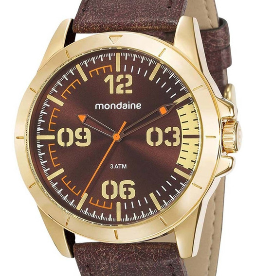 Relógio Mondaine Masculino Dourado 76702gpmvdh1 C/ Nfe