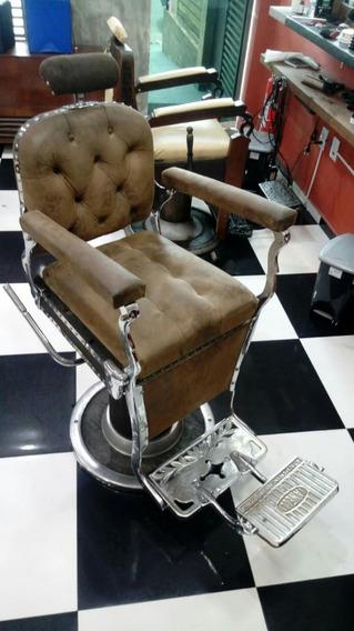 Vendo Cadeira De Barbeiro Cromada Antiga E Restaurada