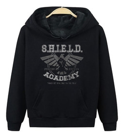 Blusa Moletom Canguru Shield Academy Marvel Frio