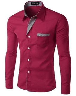 Camisa Social Slim Fit Masculina À Pronta Entrega