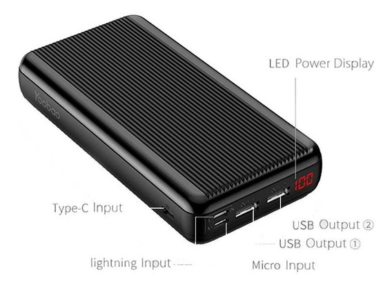 Cargador Portatil Power Bank Yoobao 20000 Mah iPhone Huawei