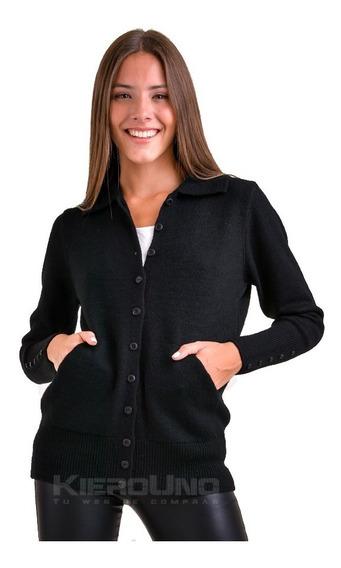 Cárdigan Americano De Lana Sweater C/ Botones Kierouno