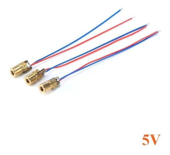 Diodo Laser 5mw - 5 Volts 6mm Vermelho (650nm) - 10 Peças
