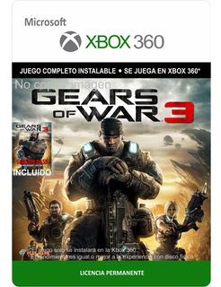 Gears Of War 3 Xbox 360 -- Envío Gratis -- Gow 3