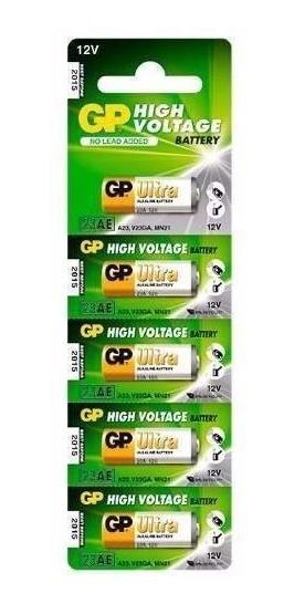 Pilha Bateria 23a/a23/v23ga/mn21 Gp 12v Alcalina 5 Unidades