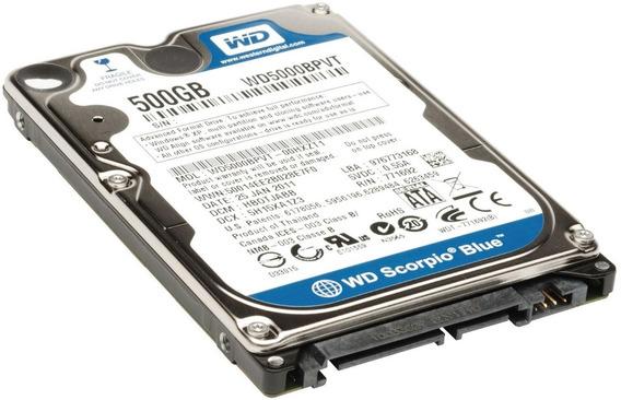 Disco Rígido Western Digital Blue 500gb Notebook 5400rpm Wd