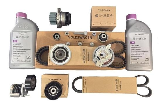 Kit De Distribución + Kit Poli V + Bomba Agua + Liquido Refrigerante G13 De Volkswagen Amarok Repuestos Originales