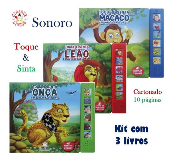 Kit Com 3 Livros Toque E Sinta Sonoro - Sons & Texturas