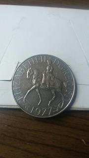 Moneda De Plata De Elizabeth Ii Dg. Reg Fd