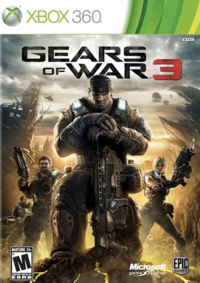 Gears Of War 3 P/ Xbox 360 Código 25 Dígitos Original
