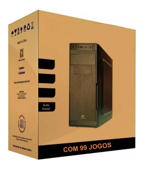 Cpu Gamer 3.8 Ghz + 99 Jogos 8gb Hd 1000 Gb Video 2gb