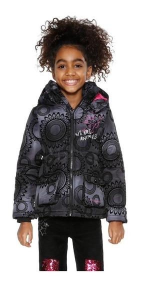 Chamarra Niña Textil Negra Desigual Modelo 18wgew15
