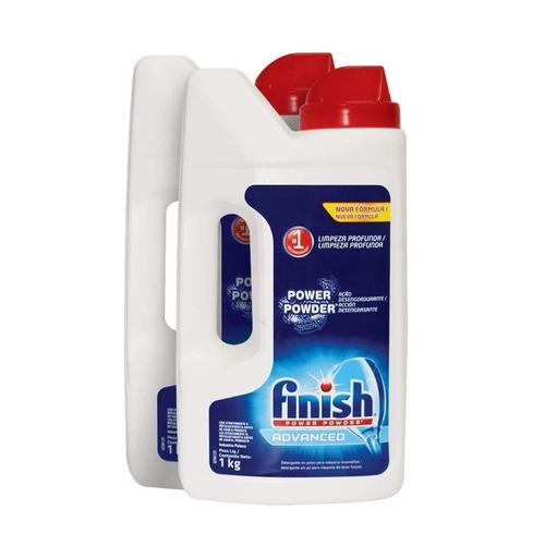 Imagen 1 de 2 de Lavatrastes para lavavajillas Finish Power Powder Advanced líquido en botella 1kg pack x2