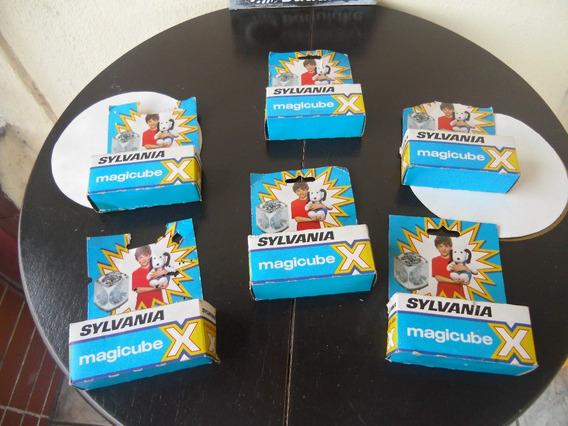 Flashes Magicube Marca Sylvania Anos 70/80 Na Caixa (sem Uso