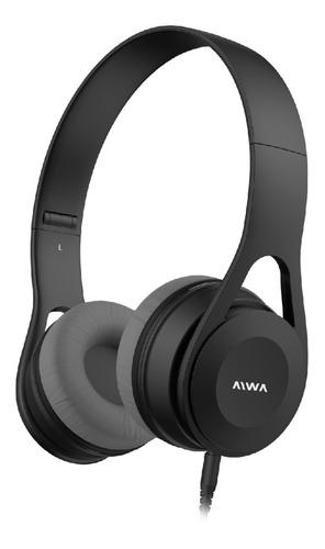 Auriculares Aiwa Vincha Plegable Ava-102b Manos Libres
