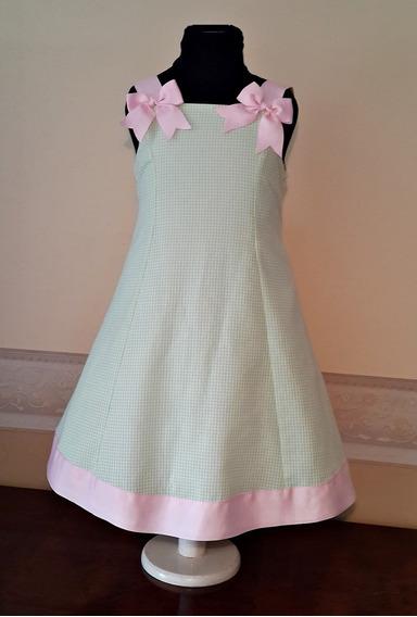 Vestido Importado Nena Fiesta Cumpleaños 5-6 Años