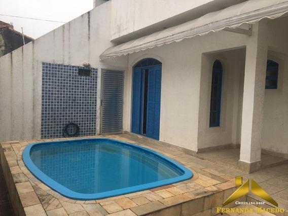 Casa Com 3 Quartos, Edícula Com Dois Quartos, Piscina, Churrasqueira A Menos De 600m Da Praia - Ca00073 - 34440674
