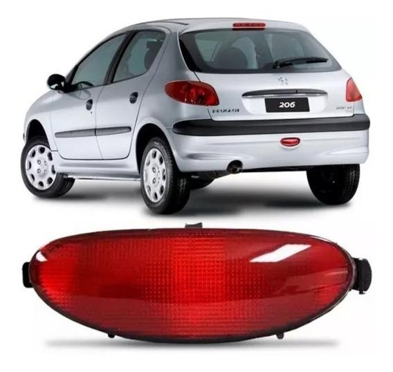 Lanterna Neblina Acrilico Parachoque Traseiro Peugeot 206