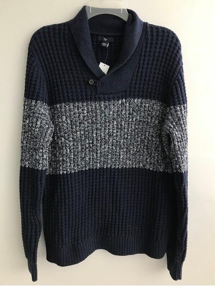 Casaco Gap Importado Blusa De Frio Masculina Com Botão Azul