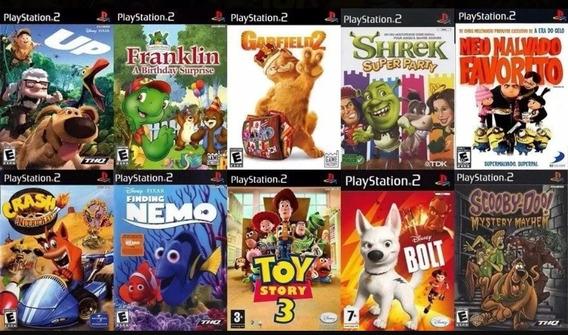 10 Jogos Ps2 Infantis Toy Story,crash Só Para Crianças
