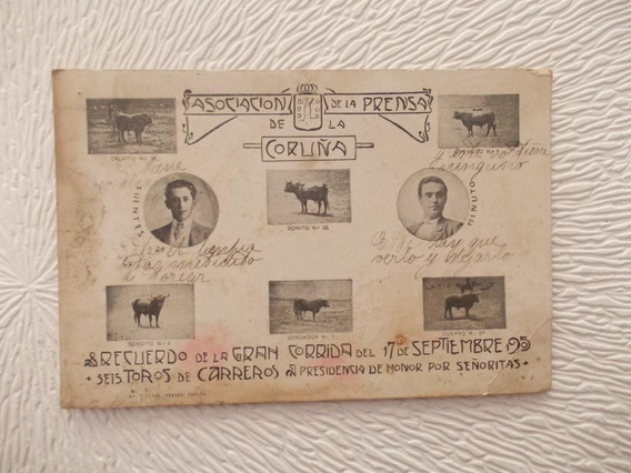 6421- Postal La Coruña, Recuerdo Corrida Toros 1905 Ferrer