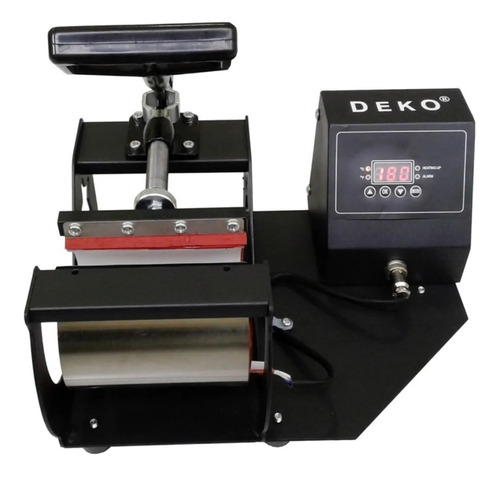 Prensa sublimadora e transfer Deko  térmica cilíndrica preta 220V