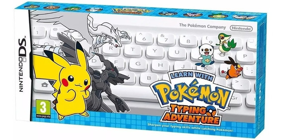 Learn With Pokemon: Typing Adventure Ds (teclado + Jogo)
