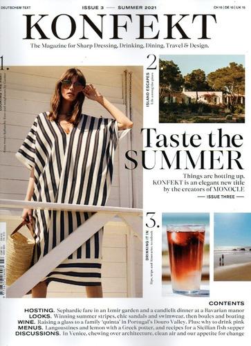 Imagem 1 de 1 de Revista Konfekt Uk Moda,viagens,luxo E Bastidores Negocios