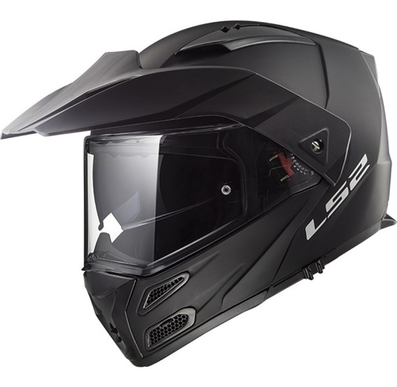 Casco Moto Ls2 Ff324 Abatible Metro Evo Negro Matte