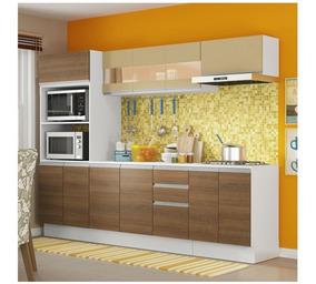Armário De Cozinha Com Balcão Madesa Smart 100% Mdf