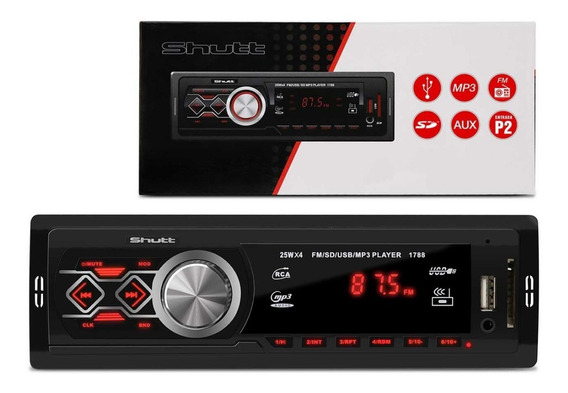 Mp3 Player Automotivo Montana Shutt 1 Din 3.5 Pol Usb Sd Fm