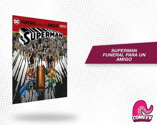 Imagen 1 de 2 de Comic Superman Funeral Por Un Amigo Máterial Extra Latino