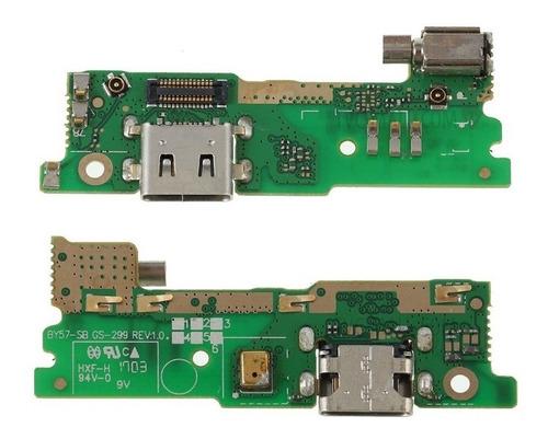 Conector Carga Usb Microfone Xperia Xa1 G3121 G3126 Flex