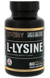 L-lisina, 500 Mg, 60 Cápsulas Vegetarianas