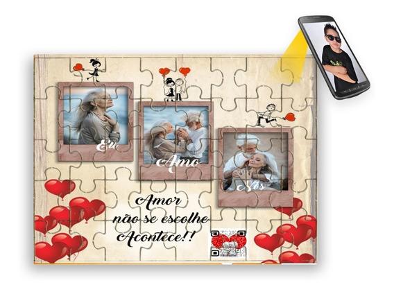 Quebra Cabeça Personalizado Dia Namorados Com Foto E Vídeo