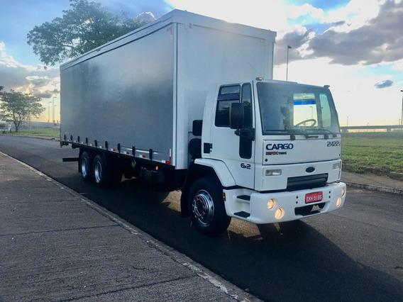 Ford Cargo 2422 2010 Bau Sider De 8,50 6x2 Truck Unico Dono